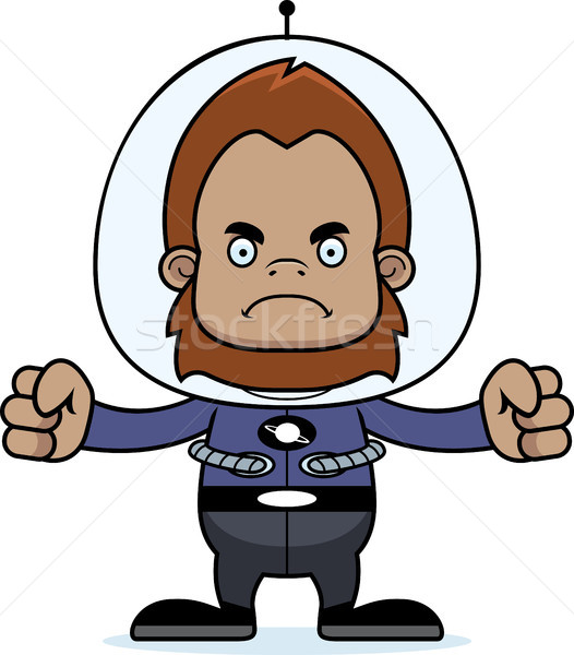 Cartoon Angry Spaceman Sasquatch Stock photo © cthoman