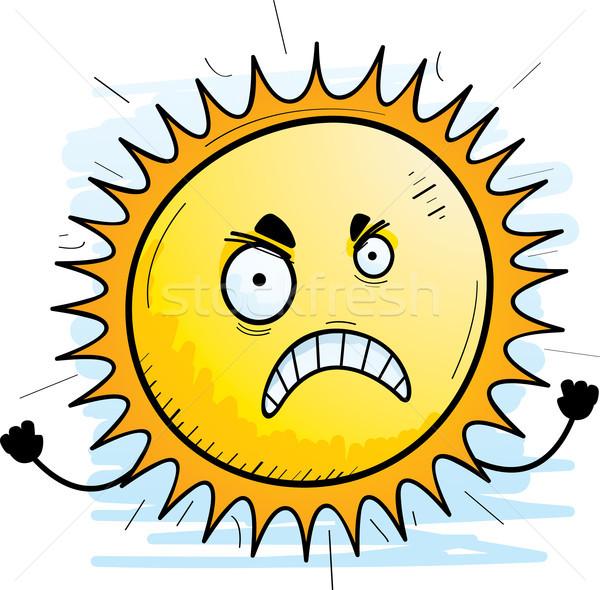 öfkeli karikatür güneş örnek bakıyor Stok fotoğraf © cthoman