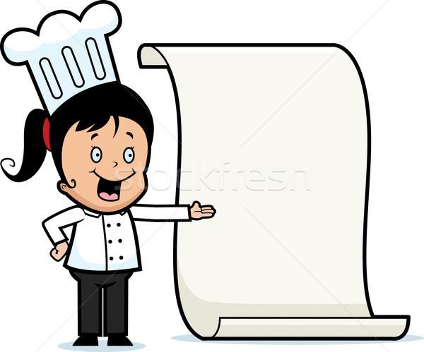 Chef Menu Stock photo © cthoman
