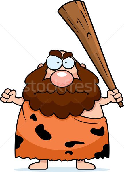 Caveman Angry Stock photo © cthoman