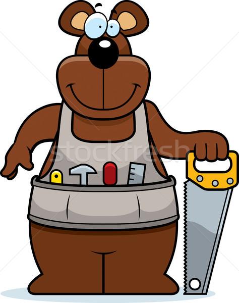 Cartoon Woodworking Bear Stock photo © cthoman