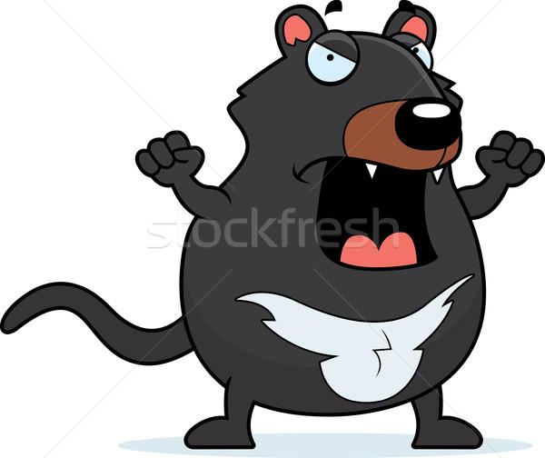 Cartoon Tasmanian Devil Angry Stock photo © cthoman