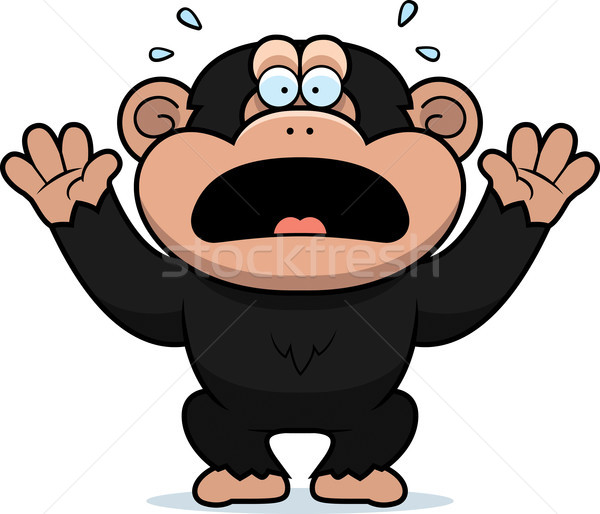 Cartoon Chimp Panicking Stock photo © cthoman