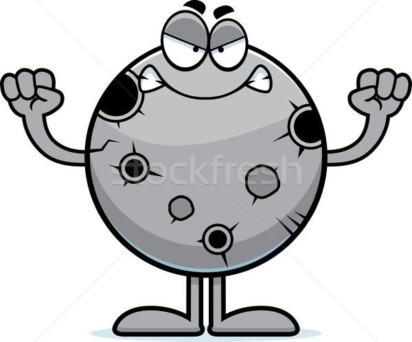 Stock photo: Angry Cartoon Moon