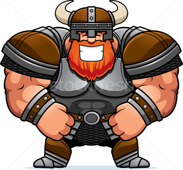 Smiling Cartoon Viking Stock photo © cthoman