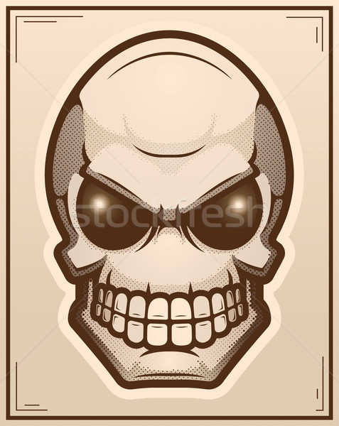 Obcych plakat ilustracja graficzne cartoon Zdjęcia stock © cthoman