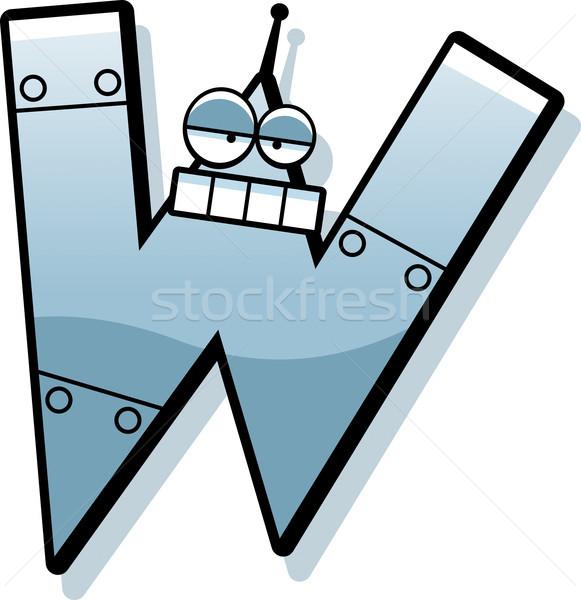 List w robot cartoon ilustracja metal maszyny Zdjęcia stock © cthoman