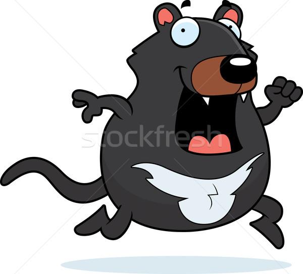 Cartoon Tasmanian Devil Running Stock photo © cthoman