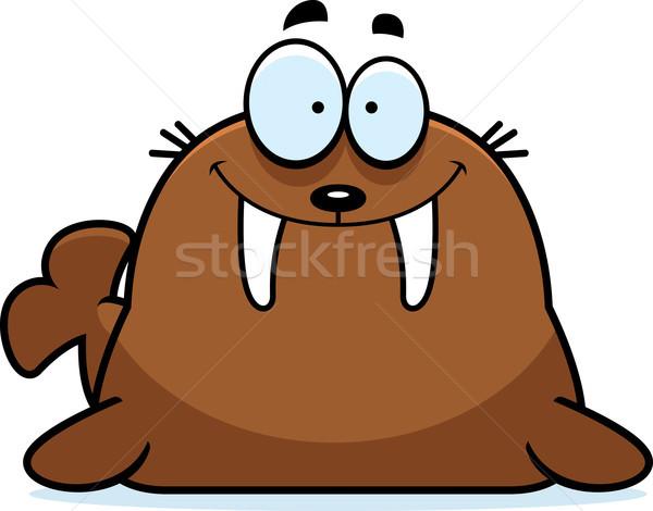 улыбаясь Cartoon морж иллюстрация животного графических Сток-фото © cthoman