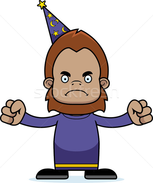 Cartoon Angry Wizard Sasquatch Stock photo © cthoman