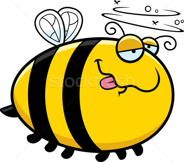 Desenho animado bêbado abelha ilustração olhando animal Foto stock © cthoman