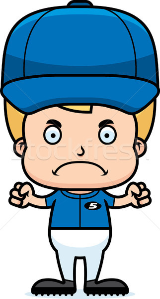 Cartoon Angry Baseball Player Boy Stock photo © cthoman