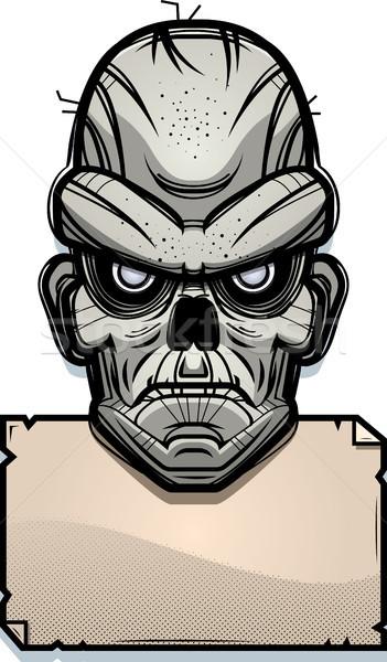 Zombi signo ilustración papel anunciante gráfico Foto stock © cthoman