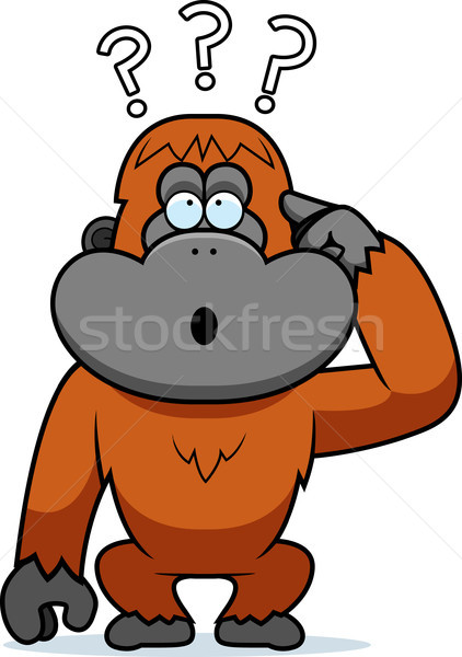 Cartoon Stupid Orangutan Stock photo © cthoman