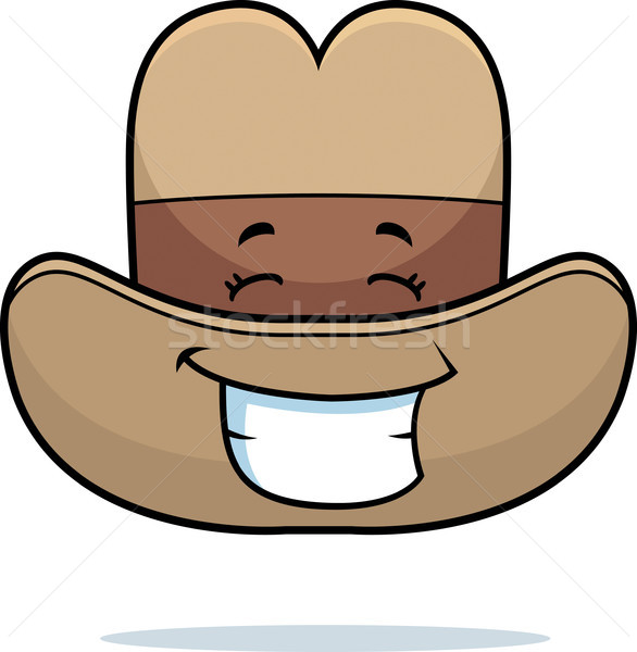 Cowboy Hat Smiling Stock photo © cthoman