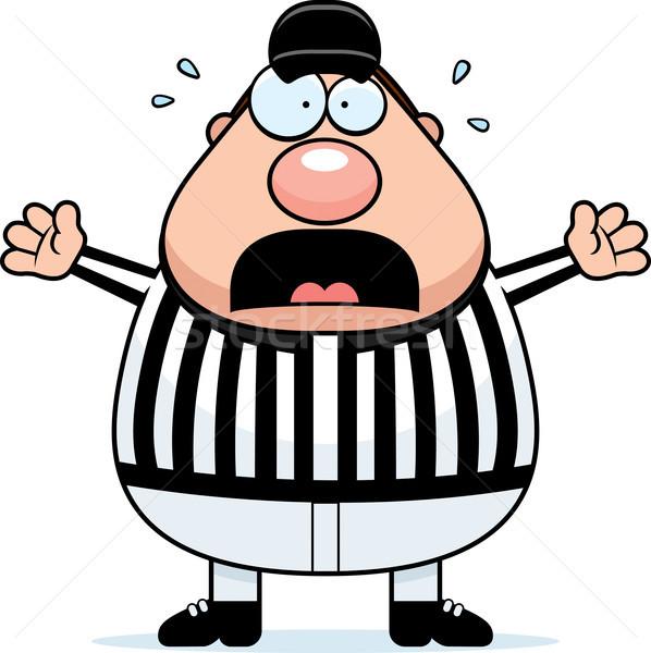 Miedo árbitro Cartoon sombrero miedo vector Foto stock © cthoman