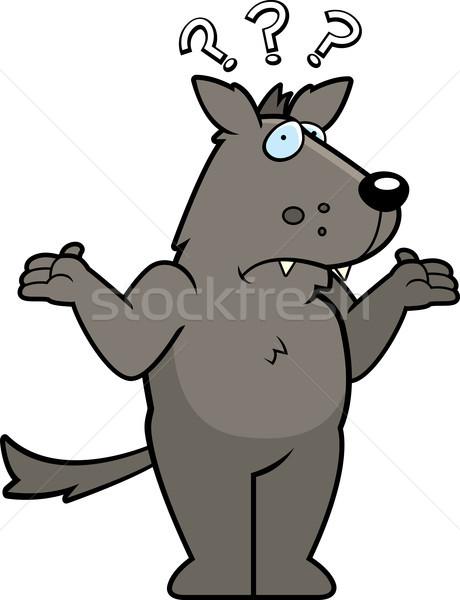 Wolf Confused Stock photo © cthoman