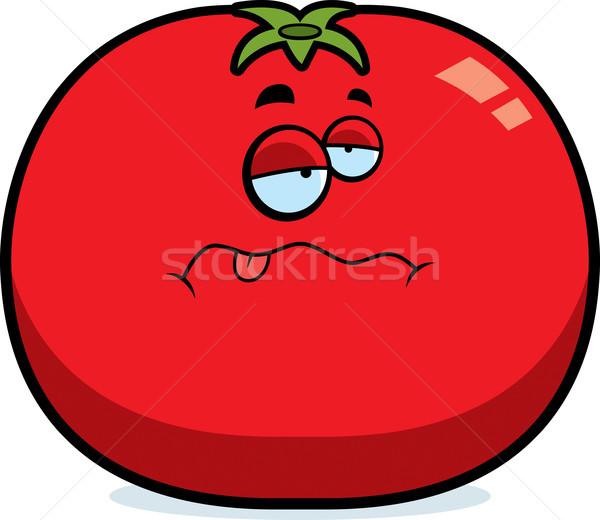Cartoon Sick Tomato Stock photo © cthoman