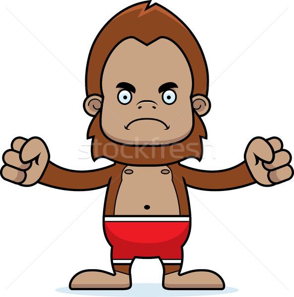 Cartoon Angry Sasquatch Swimsuit Stock photo © cthoman