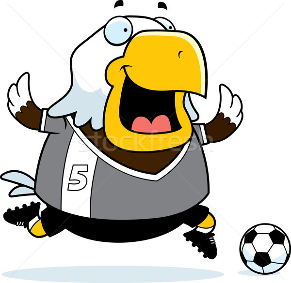 Cartoon Eagle Soccer Stock photo © cthoman