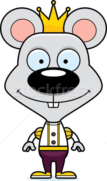 Cartoon Smiling Prince Mouse Stock photo © cthoman