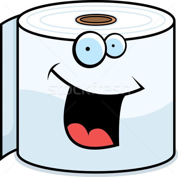 Carta igienica sorridere cartoon rotolare felice Foto d'archivio © cthoman