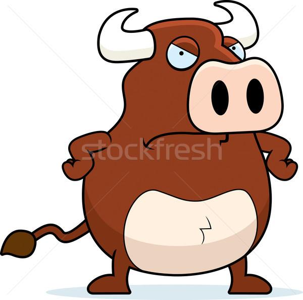 Mérges bika rajz Stock fotó © cthoman
