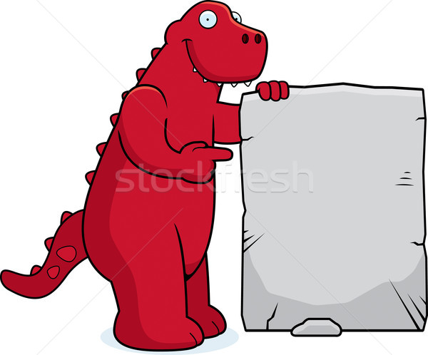 Dinosaur Sign Stock photo © cthoman