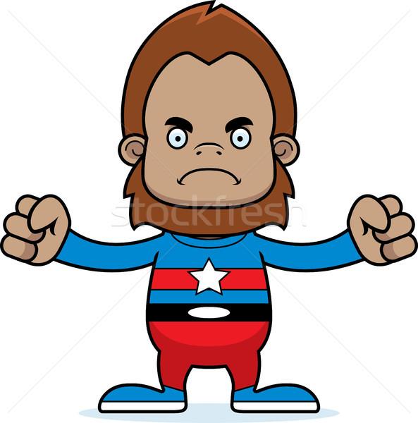 Cartoon Angry Superhero Sasquatch Stock photo © cthoman