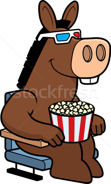 Cartoon Donkey 3D Movies Stock photo © cthoman