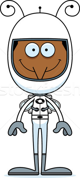 Cartoon sorridere astronauta zanzara felice animale Foto d'archivio © cthoman
