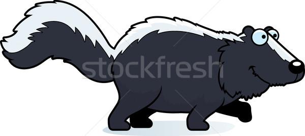 Cartoon stinkdier lopen illustratie gelukkig Stockfoto © cthoman