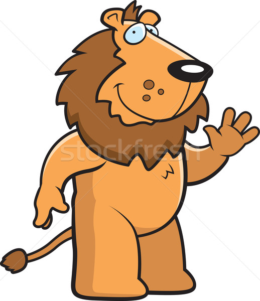 Stock photo: Lion Waving
