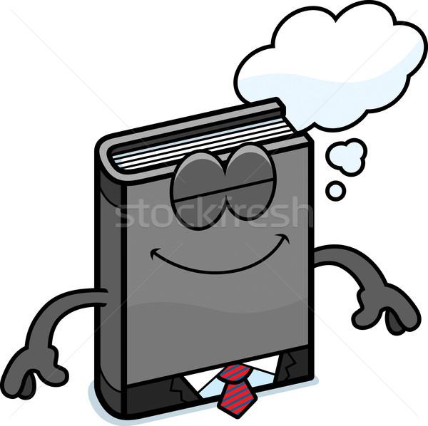 Rajz üzlet könyv álmodik illusztráció öltöny Stock fotó © cthoman