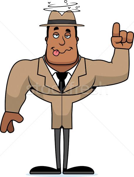 Cartoon dronken detective naar Stockfoto © cthoman