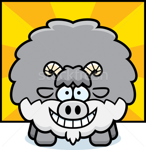 Boldog rajz kecske illusztráció néz Stock fotó © cthoman