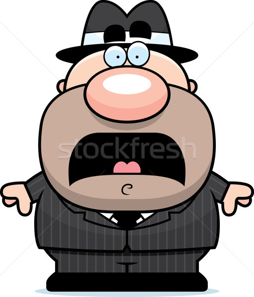 Scared Cartoon Mobster Stock photo © cthoman