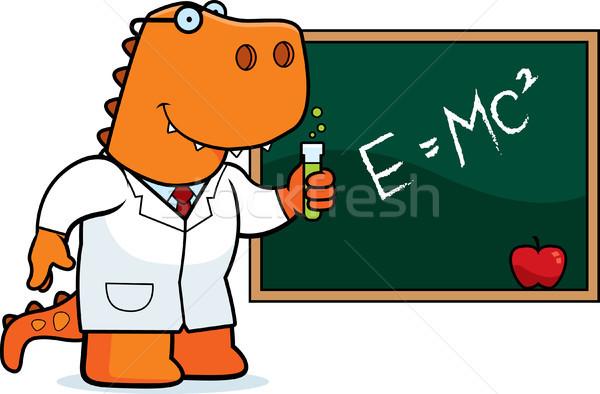 Stock photo: Cartoon T Rex Scientist