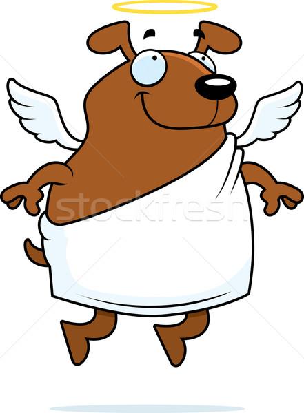 ángel perro feliz Cartoon halo Foto stock © cthoman