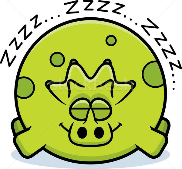 Cartoon Triceratops Sleeping Stock photo © cthoman