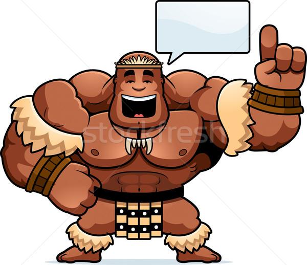 Cartoon guerrier parler illustration hommes personne Photo stock © cthoman