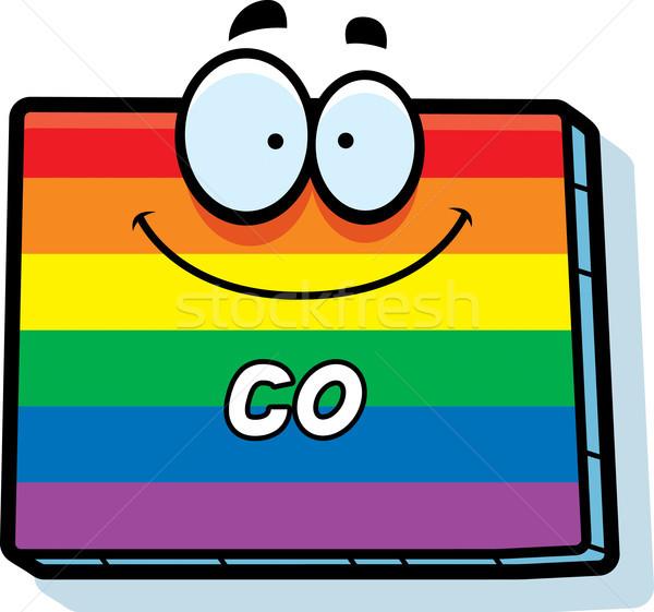 Cartoon Colorado matrimonio gay illustrazione sorridere Rainbow Foto d'archivio © cthoman
