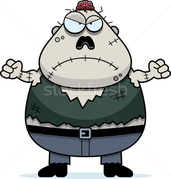 сердиться Cartoon зомби иллюстрация глядя мужчин Сток-фото © cthoman