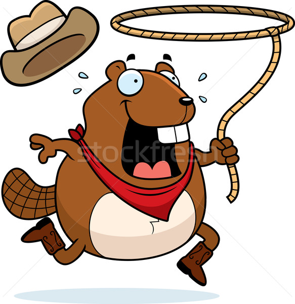 Beaver Rodeo Stock photo © cthoman