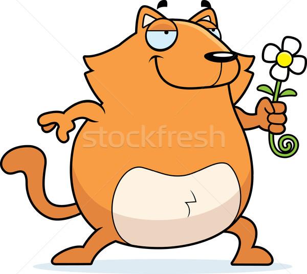 Cat Flower Stock photo © cthoman