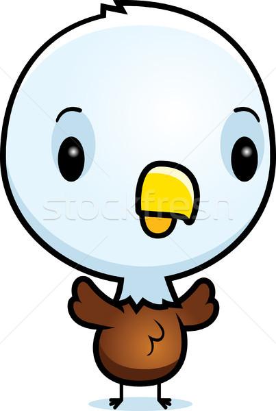Cartoon baby orzeł stałego ilustracja ptaków Zdjęcia stock © cthoman