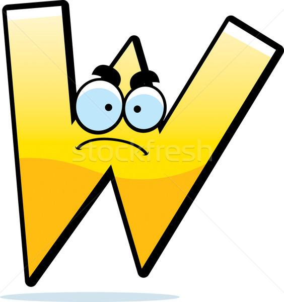 Zły cartoon list w ilustracja list złota Zdjęcia stock © cthoman