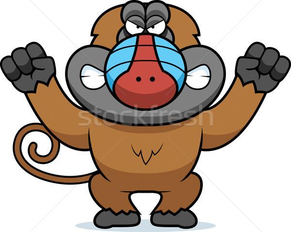 Angry Cartoon Baboon Stock photo © cthoman