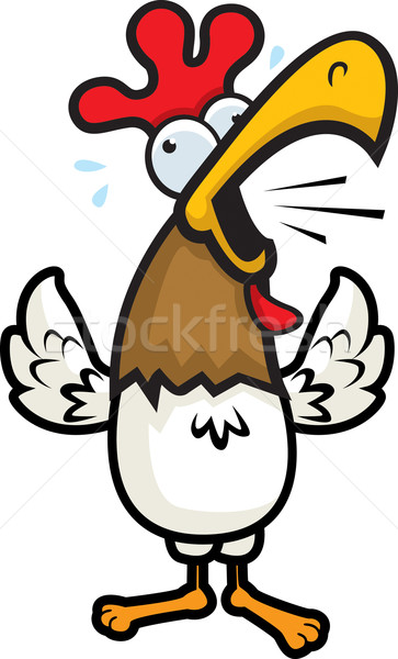 Rooster Crowing Stock photo © cthoman