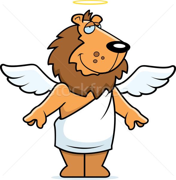 ángel león feliz Cartoon halo Foto stock © cthoman